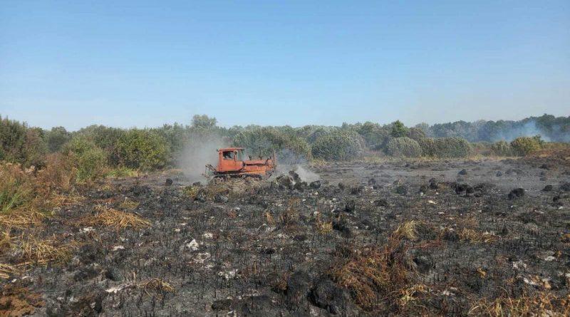 Гребінківську дільницю залучено до ліквідації пожежі на торф'яниках